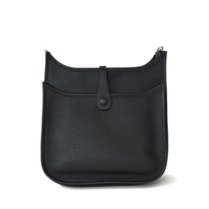 Hermes Black Evelyne PM Cross-Body Messenger Bag Chic