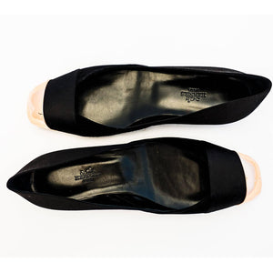 Hermes Ladies' Satin Suede Ballerina Flat Shoes 40 or 9.5 or 10