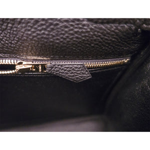 Hermes Black 28cm Togo Kelly Gold GHW Shoulder Bag Classic New