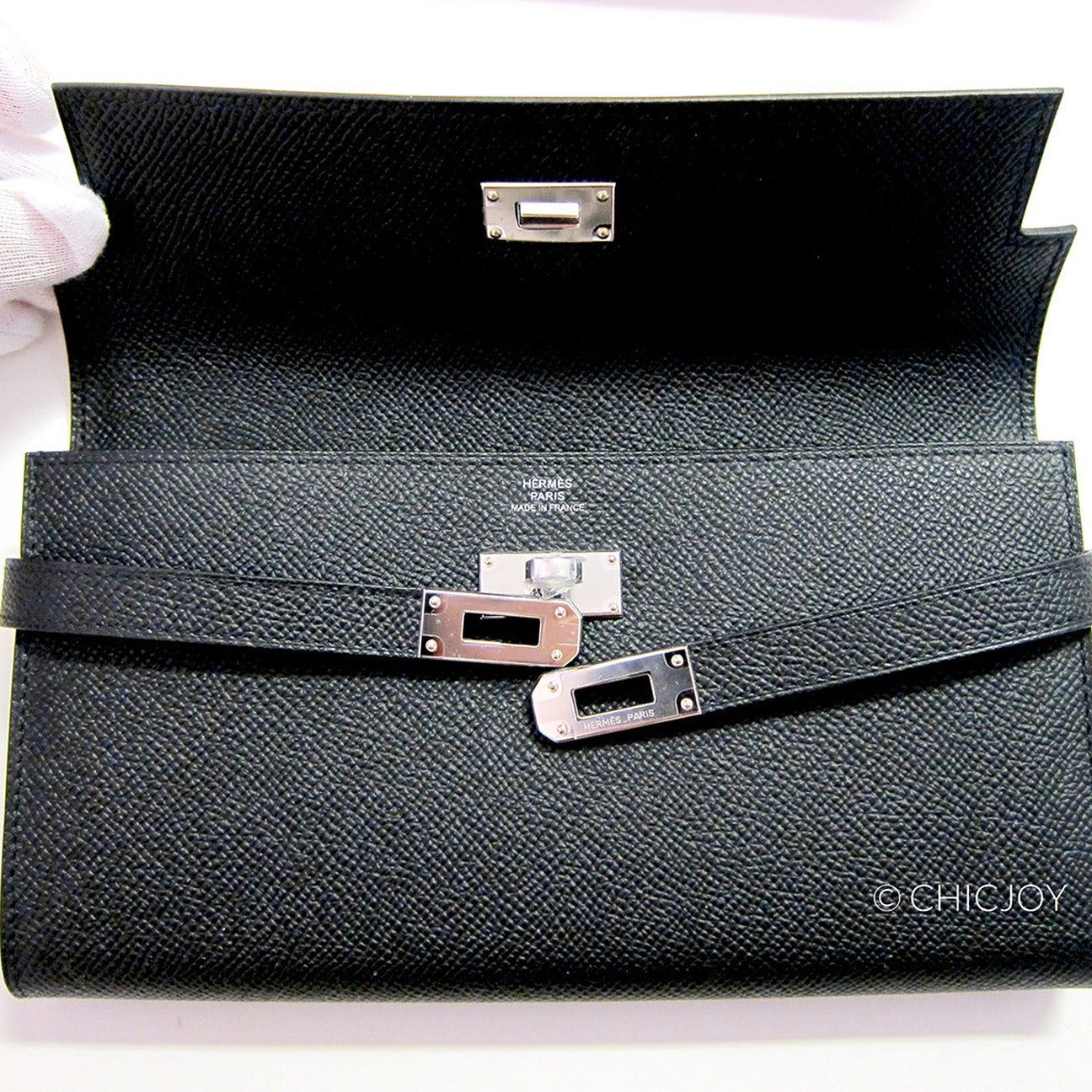 64e84fb221 ... amazon hermes black epsom kelly long wallet phw most requested 1179f  3446f
