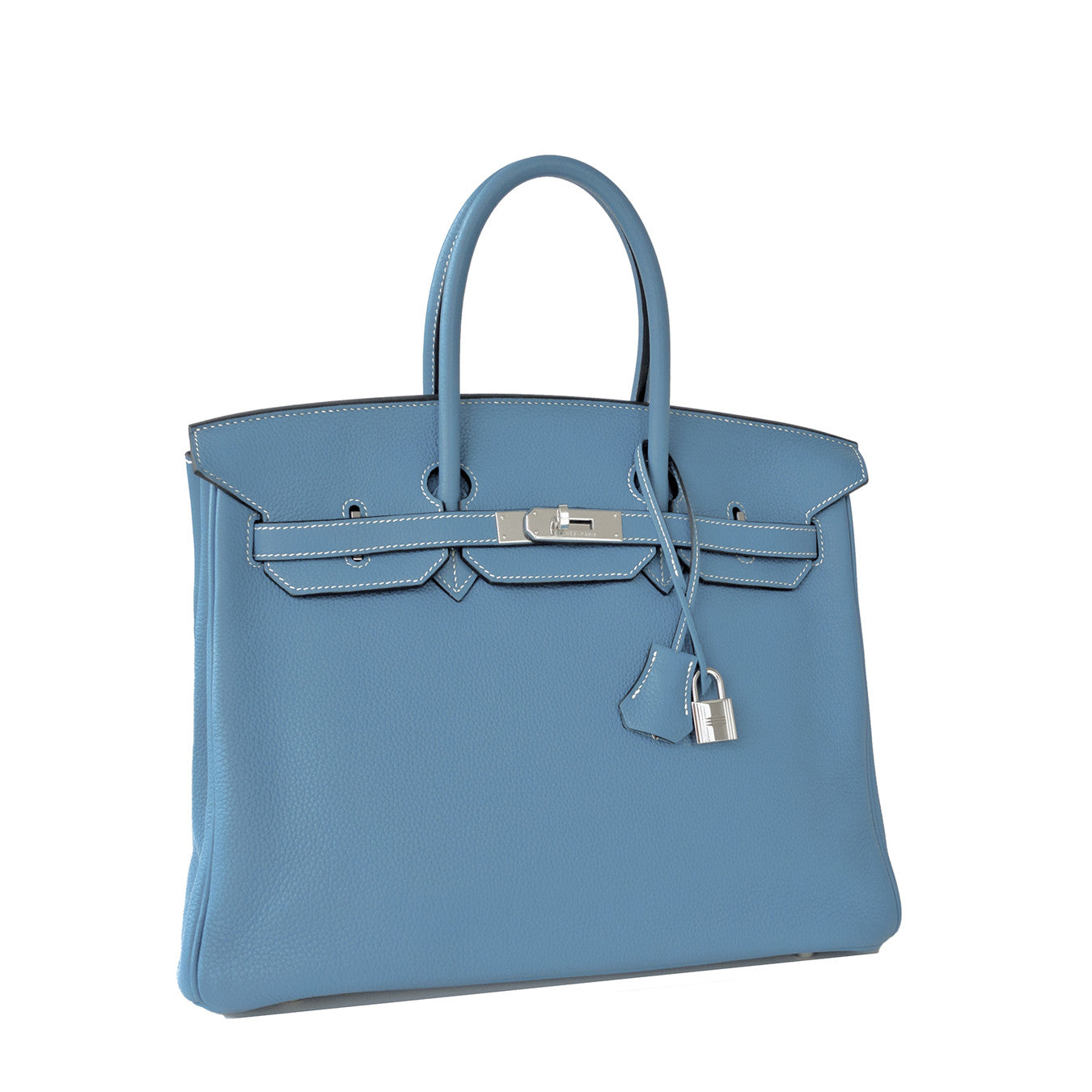 12ec622111663 ... Hermes Blue Jean 35cm Birkin Leather Palladium Tote Satchel Chic and  Sporty ...