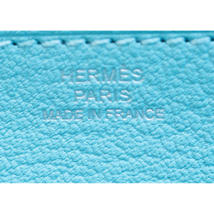 Hermes Limited Edition Blue Atoll Ghillies Swift Kelly Wallet Clutch Bag Rare