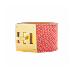 Hermes Bougainvillier Lizard Kelly Dog Gold