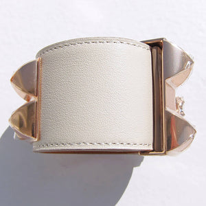 Hermes Collier de Chien CDC Bracelet CRAIE Chalk ROSE Gold Hardware