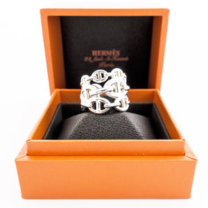 Hermes Chaine d'Ancre Enchainee GM Solid Silver Ring 52 fits 53 Beauty