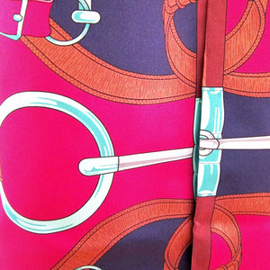 Hermes Eperon D'or Maxi Twilly Silk Scarf Carre Rose Pink Below Retail