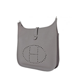 Hermes Etain Evelyne Tin Grey PM Clemence Messenger Crossbody