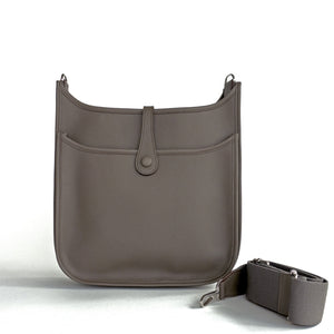 Hermes Etain Grey Eveylne PM Crossbody Messenger Shoulder Bag