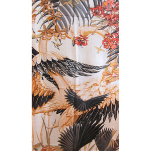 Hermes Flamingo Party Cashmere Silk Shawl Scarf GM Naturel Grail