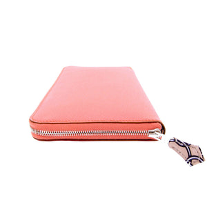 Hermes Flamingo Epsom Silk-In Azap Wallet