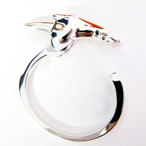 Hermes Galop Horse Solid Silver PM Bracelet Iconic Gift Below Retail