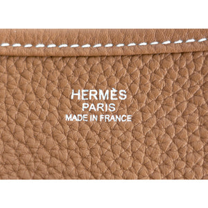 Hermes Gold Evelyne GM Crossbody Messenger Bag Celeb Fave