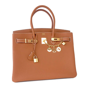 Hermes Gold Togo Birkin Bag 35cm Gold Hardware