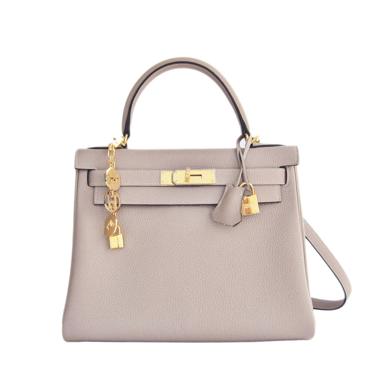 ef708b489760 ... italy hermes gris tourterelle 28cm togo kelly gold ghw shoulder bag  51817 a35f6