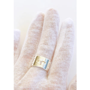 Hermes Ring Solid Silver Kelly Ring GM 54 or 7 Chic