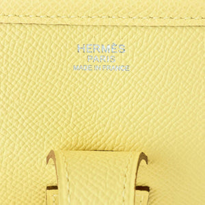 Hermes Jaune Poussin Evelyne PM Messenger Leather Bag Rare