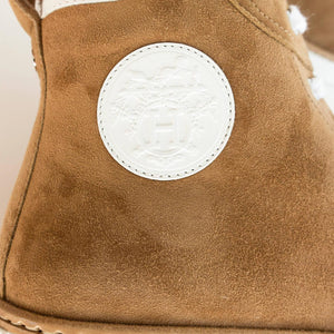 Hermes Jimmy Camel Shearling Sneakers 39 or 9 or 8.5