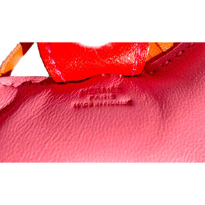 Hermes Rose Azalea Pink Orange Rodeo Birkin Kelly Bag Charm Agneau Rare Color