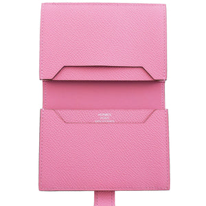 Hermes Rose Confetti Pink Bearn Compact Card-Holder Wallet Case Perfect Gift!
