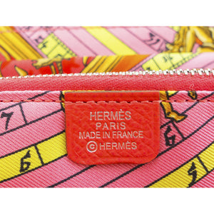 Hermes Rose Jaipur Astrologie Nouvelle Silk-In Wallet