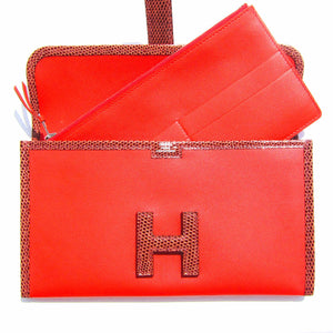 Hermes Capucine Orange Etrusque Swift Lizard Niloticus Jige Duo Mini