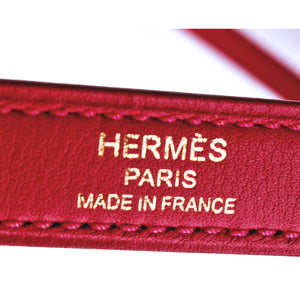 Hermes Vermillion Lipstick Red 25cm Swift Leather Kelly Gold GHW Jewel