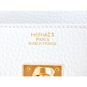Hermes White 35cm Birkin Gold Hardware New 2016 X Stamp