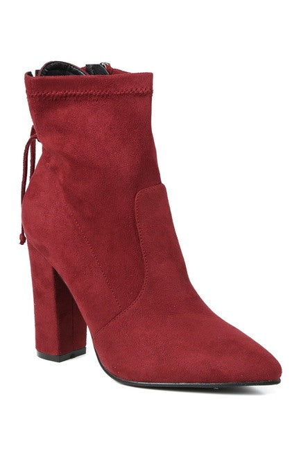Curio Block Heel Stretch Bootie