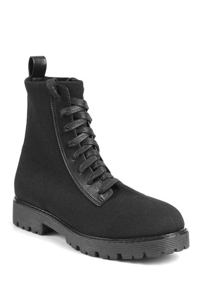 Viggo Lace-Up Knit Boot