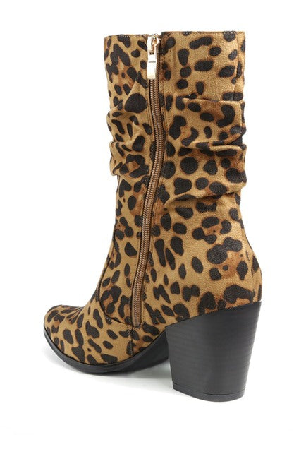 Sparky Slouchy Stack Heel Bootie