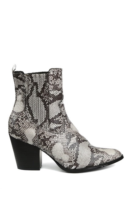 Lliana Pointed Toe Stack Heel Bootie