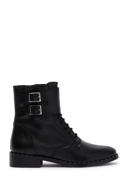 Rebel Lace Buckle Boot