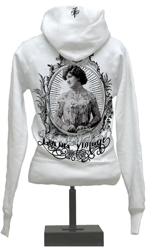 Hoody - Vintage Chick - White