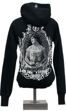 Load image into Gallery viewer, Hoody - Vintage Chick - Black