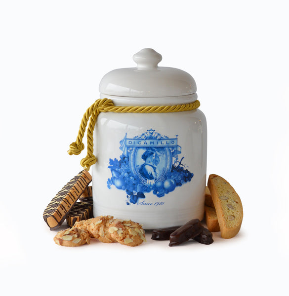 BLUE PORCELAIN BISCOTTI JAR