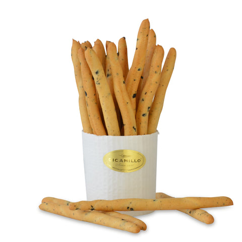 FILONCINI RUSTICI ALLE OLIVE BREADSTICKS (Breadsticks with Olives and Olive Oil)