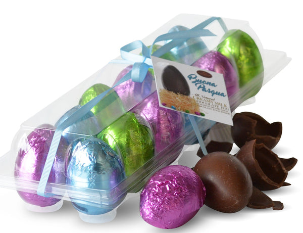 DOZEN CHOCOLATE FOIL WRAPPED EASTER EGGS