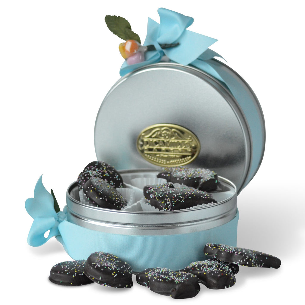 CHOCOLATE COVERED SHORTBREAD TIN