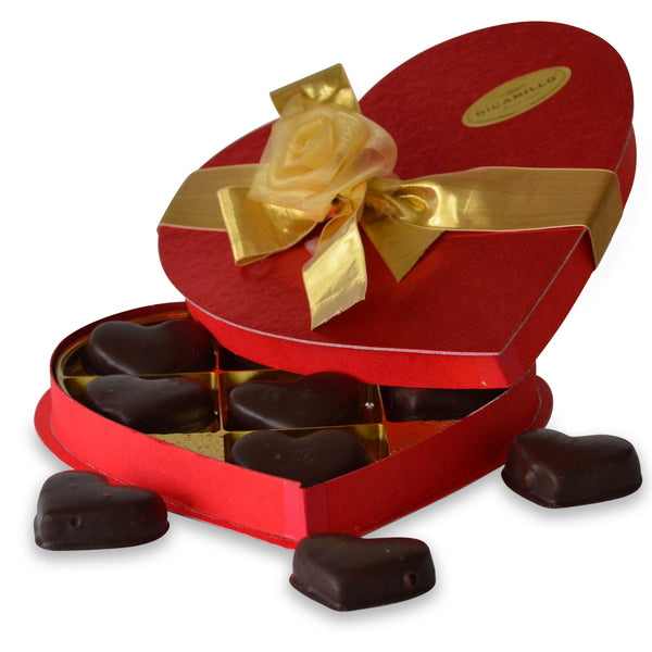 LARGE CHOCOLATE COVERED SHORTBREAD HEARTS