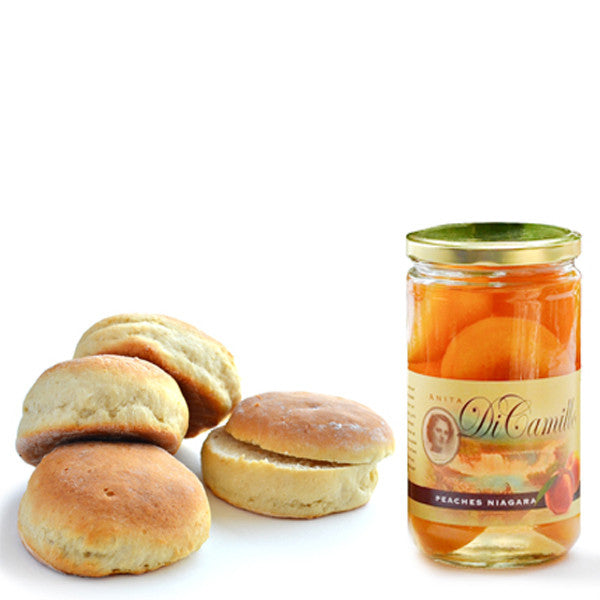 PEACHES & TEA BISCUITS