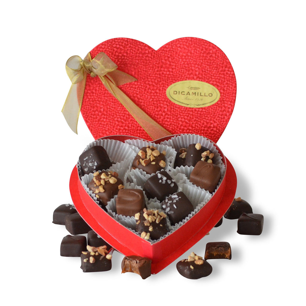 MEDIUM CARAMEL & TOFFEE VALENTINE HEART