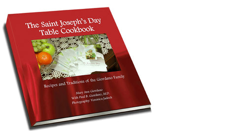 Saint Joseph's Day Cookbook & Bread Basket 5-Pac