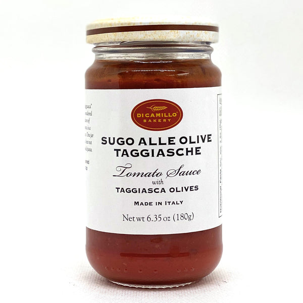 TOMATO SAUCE WITH TAGGIASCHE OLIVES
