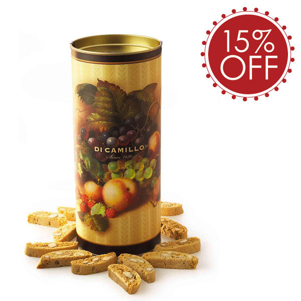 TRADITIONAL BISCOTTI DI PRATO® FRUIT CANISTER - 6 PACK