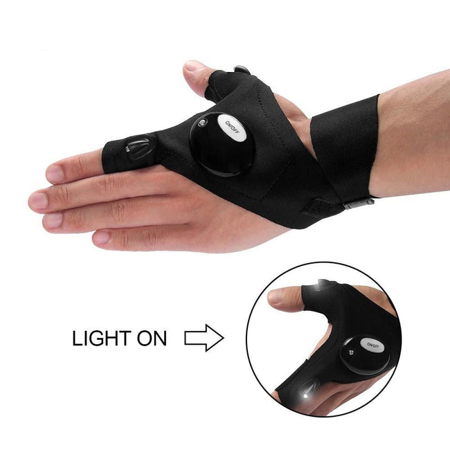 LED Waterproof Flashlight Gloves - Broad Masters, Inc.