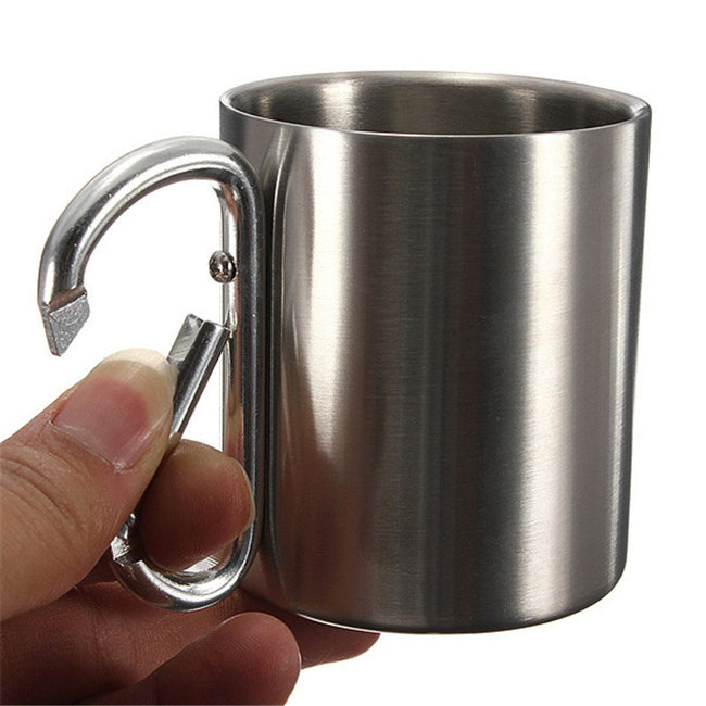 Stainless Steel Carabiner Cup - Broad Masters, Inc.