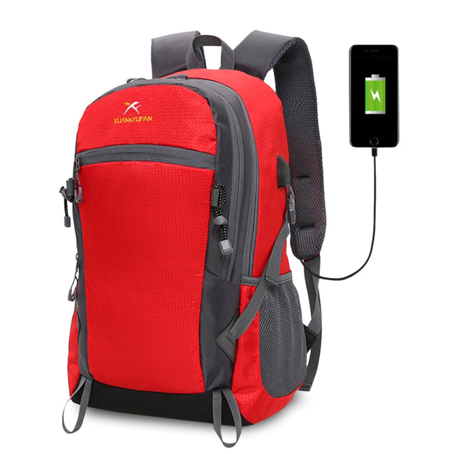 Outdoor Hiking Lightweight Travel Backpack with USB Port - Broad Masters, Inc.