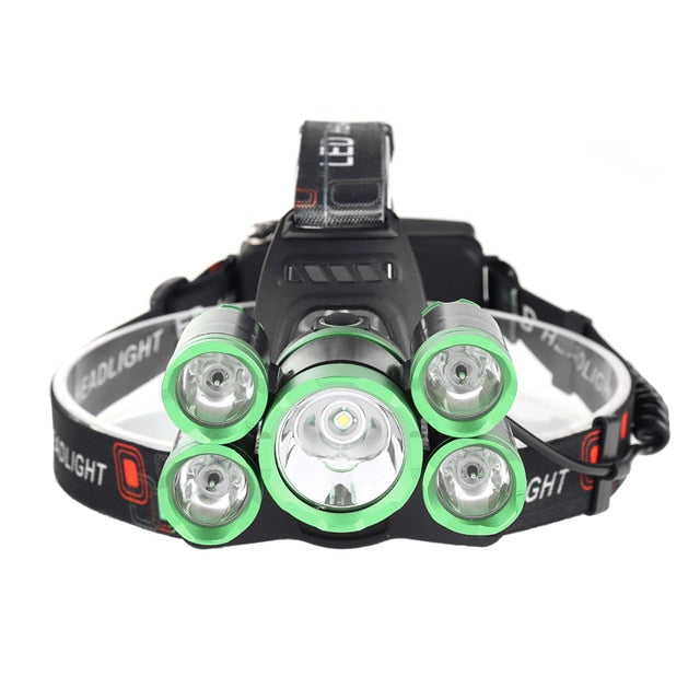 LED  50000lm Rechargeable Headlamp Flashlight - Broad Masters, Inc.