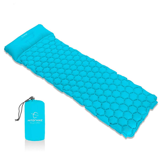Inflatable Sleeping Pad Camping Mat With Pillow - Broad Masters, Inc.