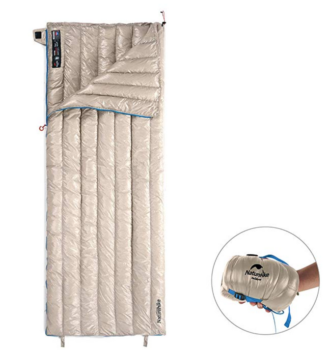 Ultralight Waterproof White Goose Down Sleeping Bag - Broad Masters, Inc.